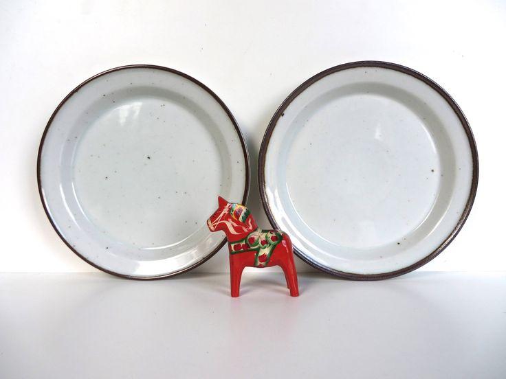 "Set of 2 Danish Modern Dansk Brown Mist Bread And Butter Plates, Dansk Brown Mist 7"" Side Plates By Niels Refsgaard by HerVintageCrush on Etsy"