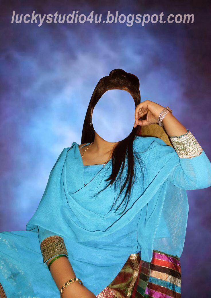 Pakistani Young Girl Studio Posing Psd File - Lucky Studio 4U free download for adobe Photoshop