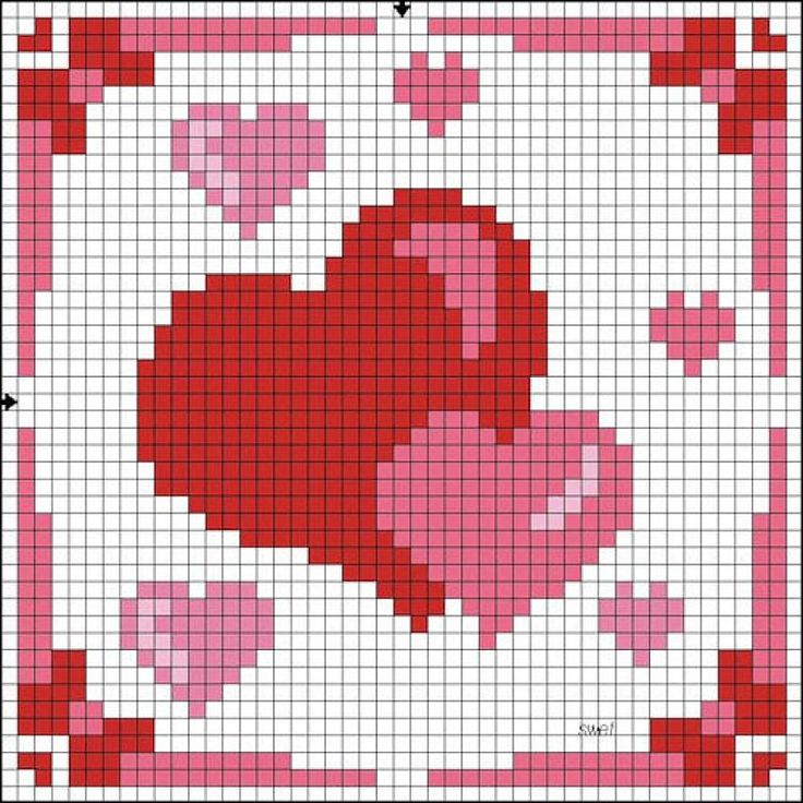 Nice little X-stitch hearts square