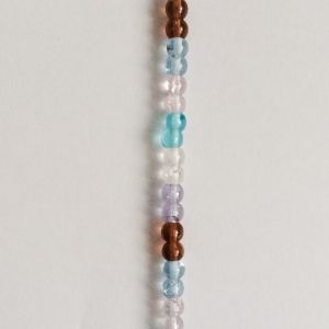 Multi Coloured - 4mm, 1 strand , 115 beads Round