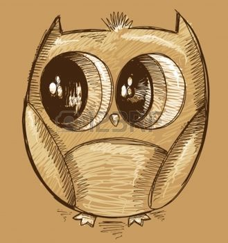 Owl Sketch Doodle mignon photo