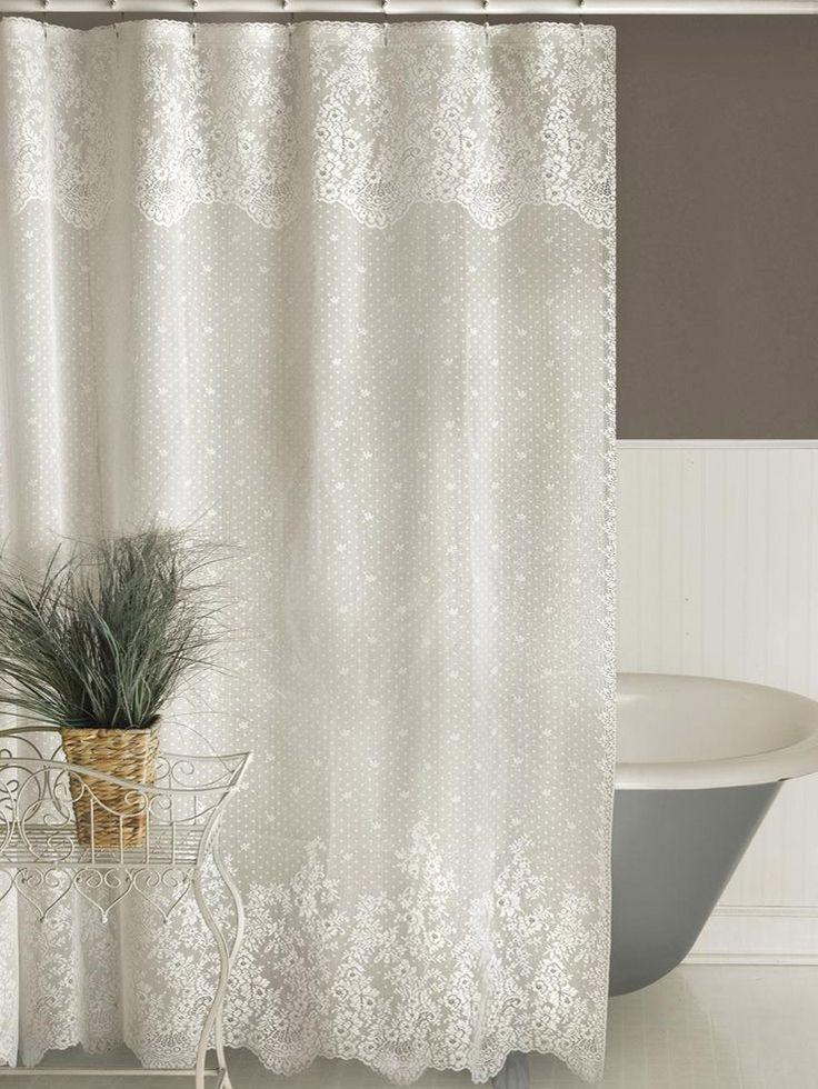 кружевные занавески для ванной