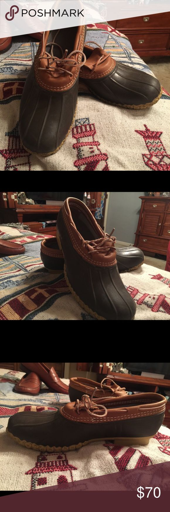 L.L. Bean boots for sale! Size 11 bean boots! Worn a couple times. They are too big for my feet. L.L. Bean Shoes Rain & Snow Boots