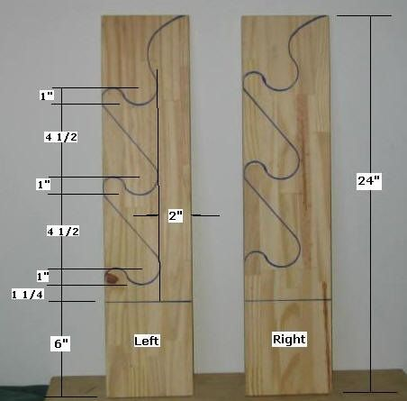 One extra inch to hold the riffle barrels on the right side