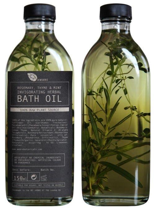 AMBRE | Bath Oil Packaging