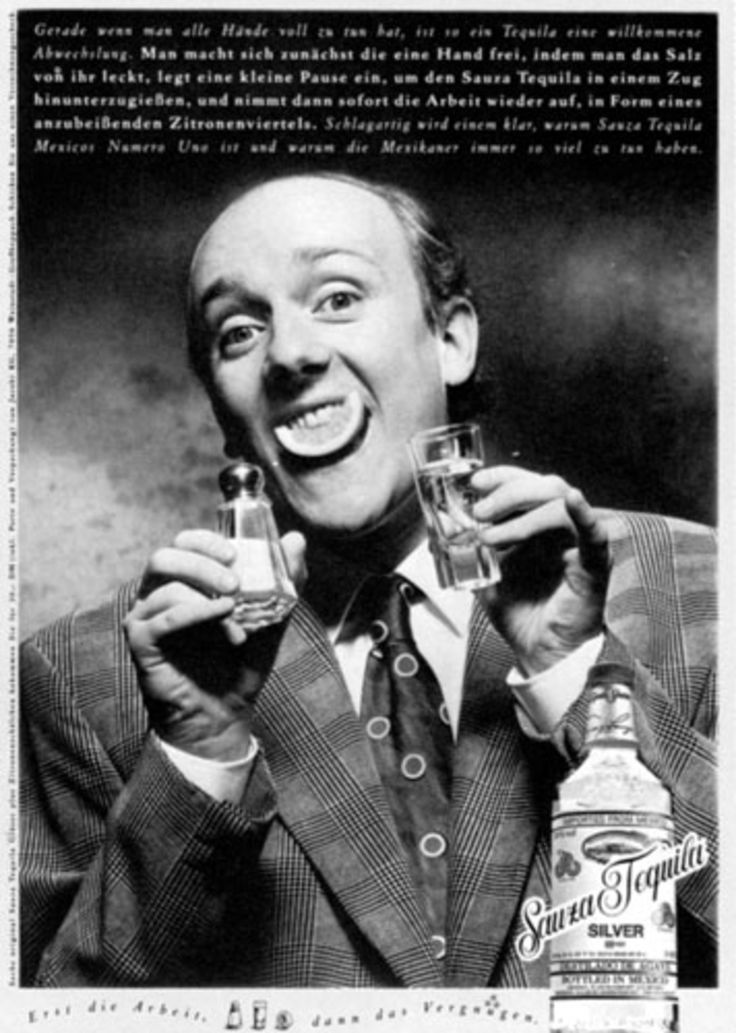 """Read more: https://www.luerzersarchive.com/en/magazine/print-detail/sauza-tequila-13495.html Sauza Tequila Even if you need more than two hands, tequila is a welcome change. First of all you need one hand free for licking salt from it, then you take a little break to pour down the tequila in one gulp and then you go back to work, in the shape of a quarter of a lemon that you have to sink your teeth into. At once you realize why Sauza Tequila is Mexico´s """"numero uno"""" and why the Mexicans are…"""
