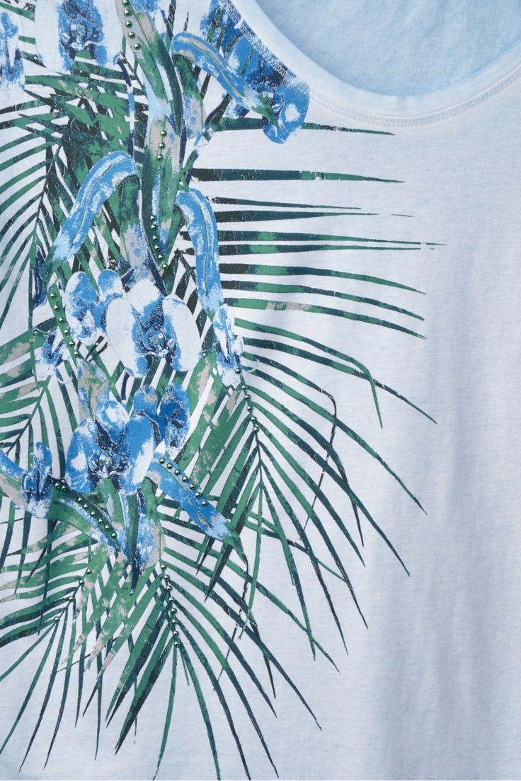 shirt met tropische bloemen