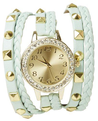 Pyramid Braided Wrap Watch - Watches