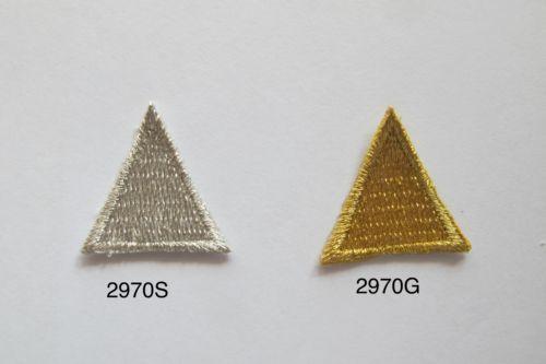 2970-Lot-6Pcs-Gold-Silver-Trim-Fringe-Triangle-Embroidery-Applique-Patch