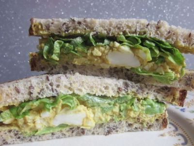Curried Egg and Lettuce Sandwich. #curriedegg #sandwich