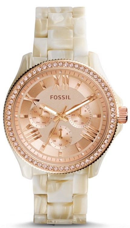 #Fossil Cecile Women's Shimmer Horn Watch goes perfectly with every outfit and glitters all day long.