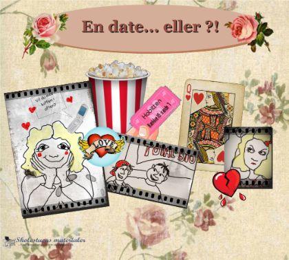 """Smart Notebook-lektion fra www.skolestuen.dk - """"En date ... eller?!"""" - En billedhistorie med en åben slutning samt spørgsmål der lægger op til en dialog om hvordan man håndterer følelser, forventninger, skuffelser og misforståelser i grænselandet mellem venskaber og kærlighed."""