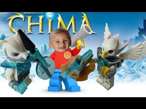 Opening Lego legends of Chima Minifigures: Iceklaw, Ewar, limited editio...