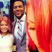 cool Kelly Ripa debuts pink hair and talks being pregnant odds Check more at http://worldnewss.net/kelly-ripa-debuts-pink-hair-and-talks-being-pregnant-odds/
