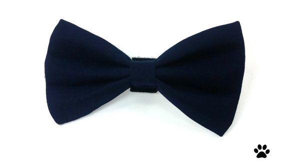 Navy blue dog bow tie navy blue cat bow tie wedding bow tie