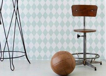 retro behangpapier 'harlequin' Ferm Living | kinderen-shop Kleine Zebra