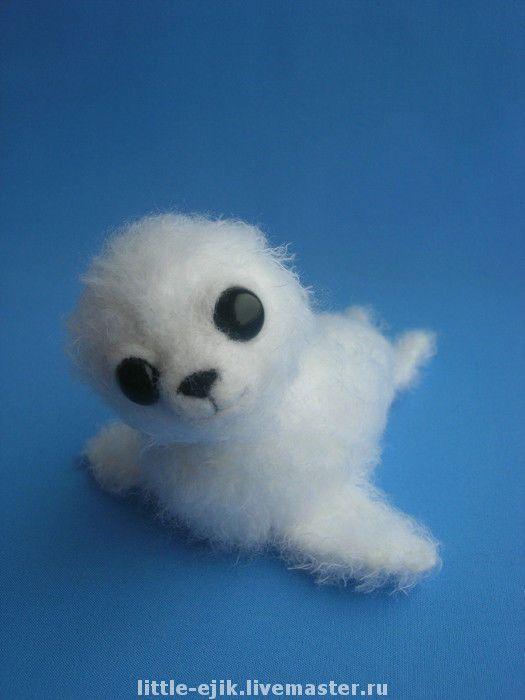 Купить белёк Яник - авторская игрушка, вязаная игрушка, белек, белый, фактурная…