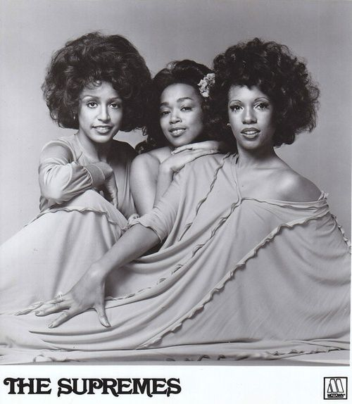 The final line-up of The Supremes: Scherrie Payne, Susaye Greene and Mary Wilson, 1976-77. #bighair