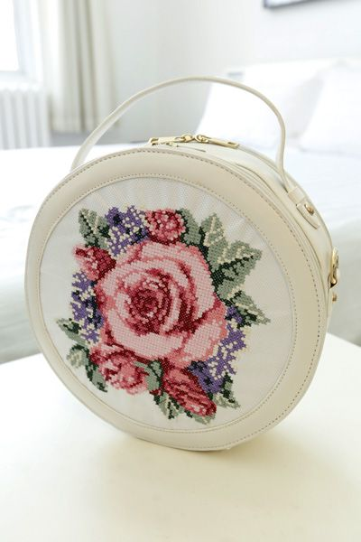 bag - http://zzkko.com/n237615-aid-the-beautifl-mushroom-Street-New-Ethnic-cross-stitch-peony-round-shoulder-bag-handbag-Messenger-bag.html $31.66