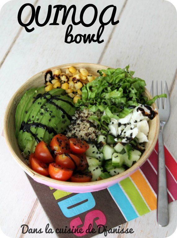 Quinoa bowl {recette végétalienne sans gluten}