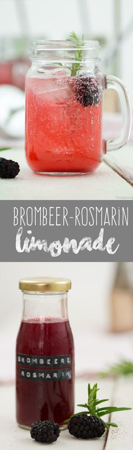 Brombeer-Rosmarin-Sirup Limonade Sommer Getränk Rezept Brombeeren Rosmarin