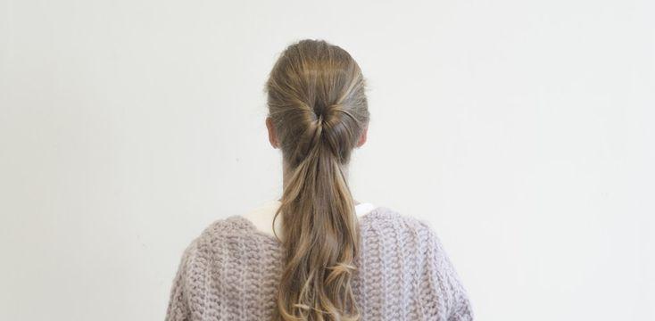 Tutoriel coiffure en vidéo  : comment faire une queue de cheval inversée ?
