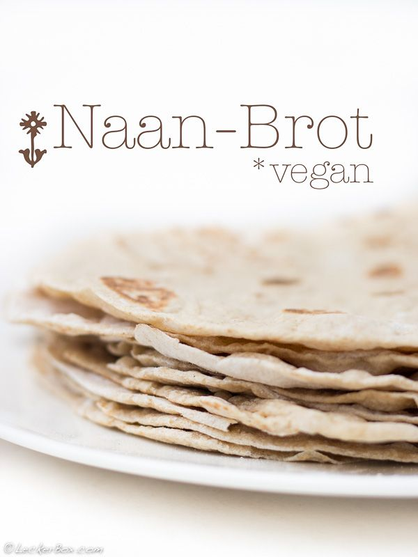 """""""Naan-Brot"""" selbst gemacht! {*vegan *dünn zum aufrollen *mit Roggenmehl}"""