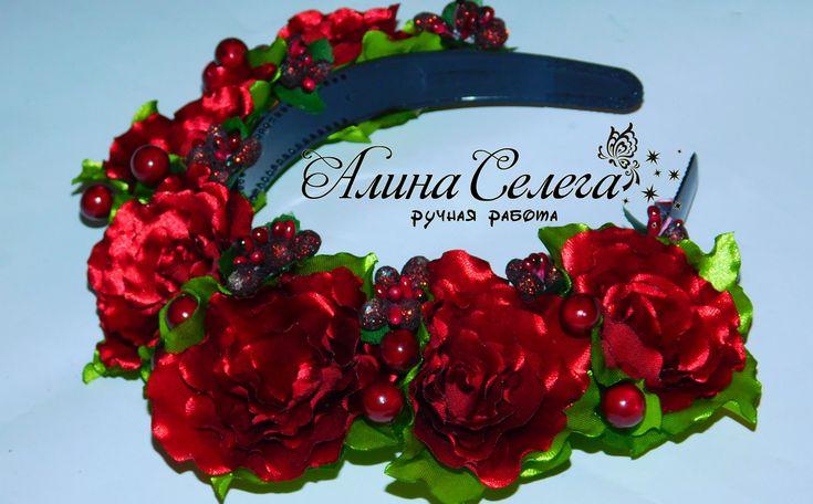 МК венок из объемных цветов / МК Алина Селега