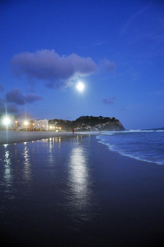 Night lights, Barra da Tijuca, Rio de Janeiro, Brazil
