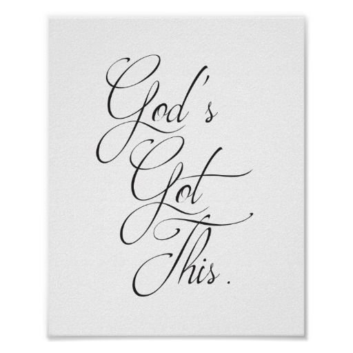 God's Got This Quote Art Poster by The Digi Dame on Zazzle zazzle.com/eternalhope*