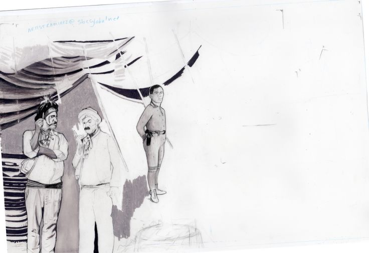 Carolyn Dee Flores - Partial Sketch Study (Pencil) for THE CIRCUS