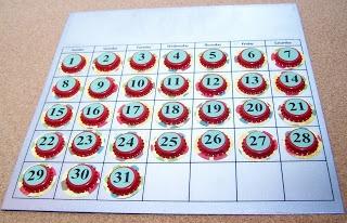 Calendario magnetico