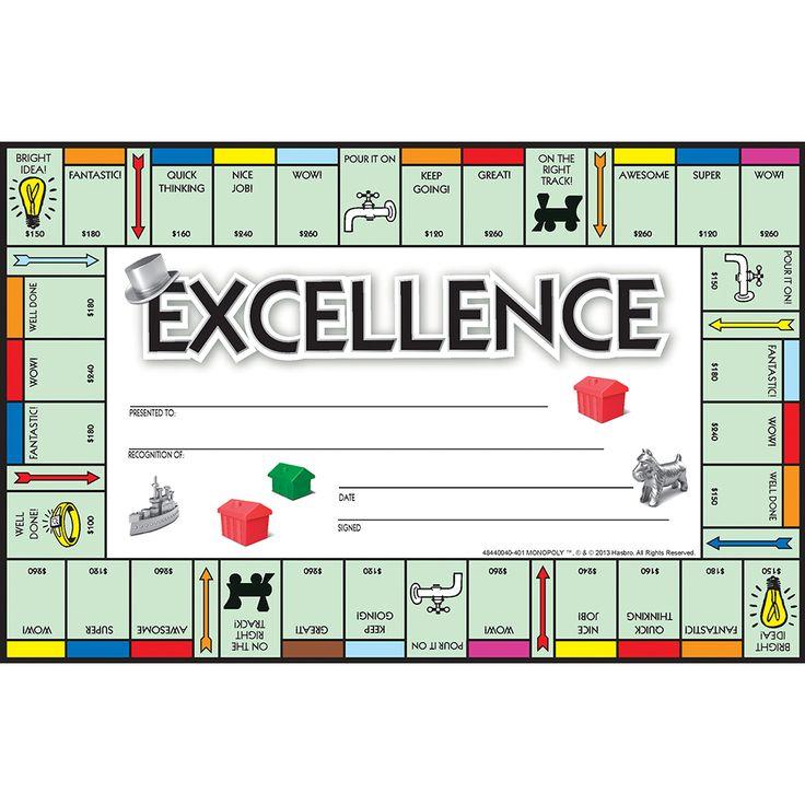 Monopoly Classroom Awards | Eureka School