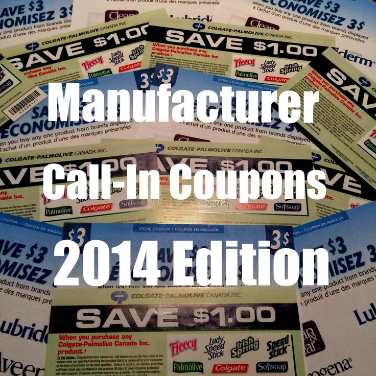 These Canadian companies will MAIL you HIGH VALUE coupons if you just call and ask them! read the list and start getting some awesome high value coupons