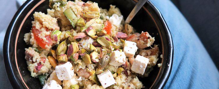 Couscous met pistache, abrikoos, kip, courgette en feta | Gewoon wat een studentje 's avonds eet | Bloglovin'