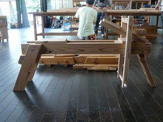 新しい木工・木育の学校 森林文化アカデミー: 削り馬 / shaving horse