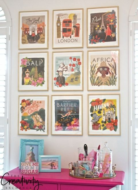 Framed Gallery Wall from Rifle Paper Company wall calendar.
