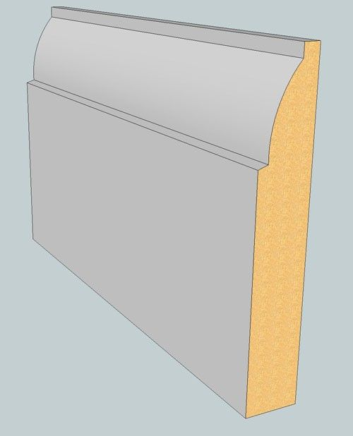 Ovolo Skirting Boards - 170mmm x 18mm - 3m lengths