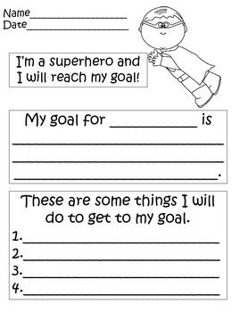 Use these superhero goal setting forms when you conference with your students. Let your kiddos take ownership of their learning.
