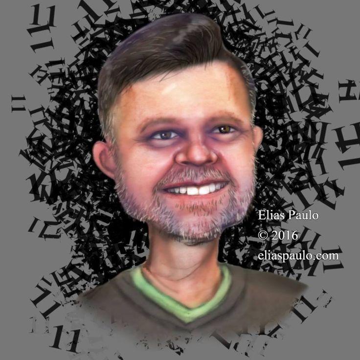 A imagem pode conter: 1 pessoa, sorrindo, texto e close-up