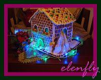 Χειροτεχνίες: Φωτεινό Μπισκοτένιο Χριστουγεννιάτικο Σπίτι