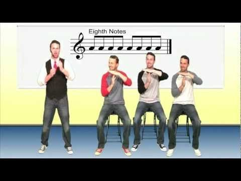 ▶️ Rhythm Lesson - YouTube This is actually a pretty cool way of presenting rhythm and visualizing notes and note names.