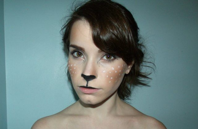 DIY deer makeup. Halloween?
