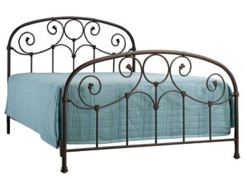 antique looking wrought iron bed frame grafton queen bed from raymour flanigan 299 - Wrought Iron Bed Frame Queen
