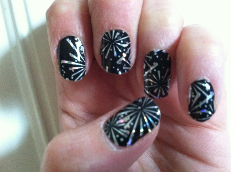93 best fireworks night nails art images on pinterest nail jam nails rock firework nail art of july prinsesfo Gallery