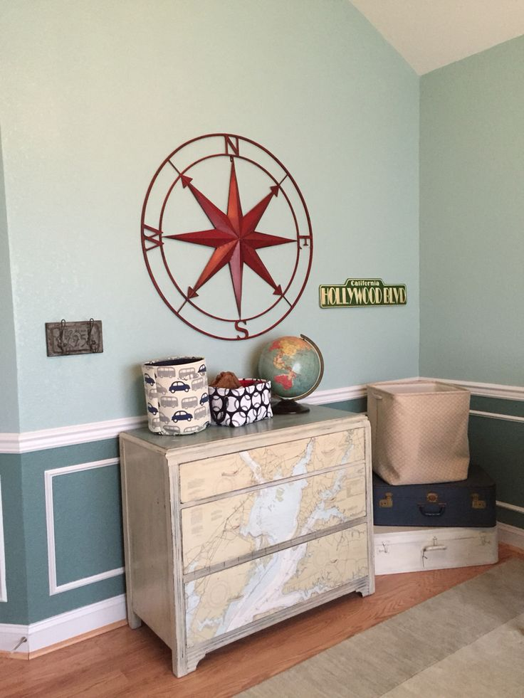 Owens Vintage Travel Theme Nursery. The Dresser Was Painted With Annie  Sloan Chalk Paint And Part 97