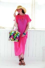 Long beach cover-up pattern - free