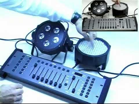 Video istruzioni sul DMX :i mixer ed i fari