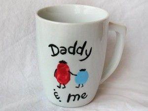 Lavoretti per la festa del papà: tazza - fine