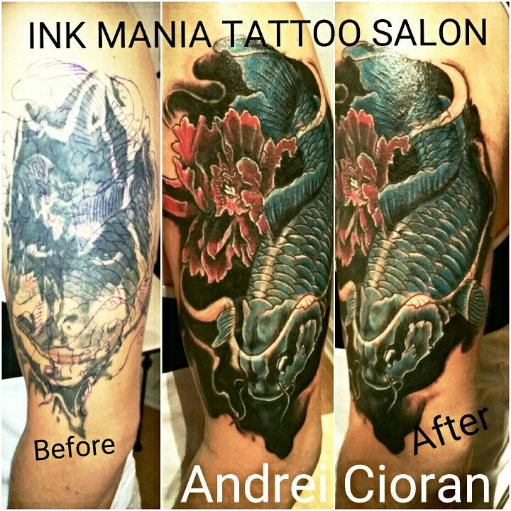 Cover up tattoo water color eye tattoo